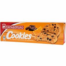 Μπισκότα ΠΑΠΑΔΟΠΟΥΛΟΥ cookies με σοκολάτα και πορτοκάλι (180g)