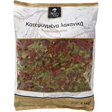 Πιπεριές MASTER CHEF mix κόκκινες και πράσινες σε λωρίδες κατεψυγμένες (2,5kg)