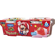 Γιαούρτι DANONE super Mario παιδικό με γεύση φράουλα