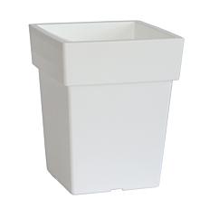 Γλάστρα LINEA 572 τετράγωνη λευκή