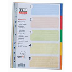 Διαχωριστικά Α4 5 θεμάτων χρωματιστά