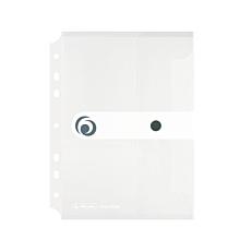 Φάκελος εγγράφων με κουμπί E.ORGA A5 με τρύπες διαφανής