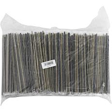 Καλαμάκια σπαστά, χρυσό μαύρο, συσκευασμένα 1/1, 240x5cm (1000τεμ.)