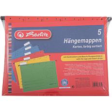 Φάκελος κρεμαστός HERLITZ Α4 χρωματιστός (5τεμ.)