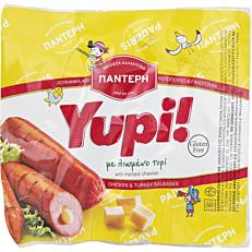 Λουκάνικα ΠΑΝΤΕΡΗ Yupi κοτόπουλου και γαλοπούλας με τυρί (150g)