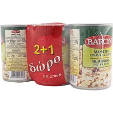 Κονσέρβα BARON μανιτάρια κομμένα (3x370g)