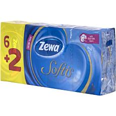 Χαρτομάντηλα ZEWA softis τσέπης (8τεμ.)