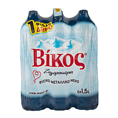 Νερό ΒΙΚΟΣ φυσικό μεταλλικό 5+1 ΔΩΡΟ (6x1,5lt)