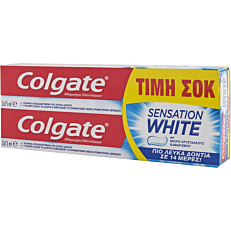 Οδοντόκρεμα COLGATE sensation white (2x75ml)