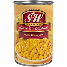 Κονσέρβα S&W καλαμπόκι σε κόκκους Sweet N' Natural (432g)