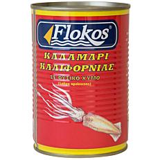 Κονσέρβα FLOKOS καλαμάρι με φυσικό χυμό (370g)