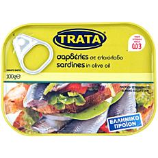 Κονσέρβα TRATA σαρδέλες σε ελαιόλαδο (100g)