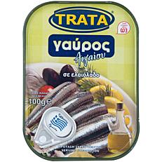 Κονσέρβα TRATA γαύρος Αιγαίου σε ελαιόλαδο (100g)