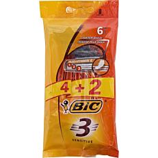 Ξυραφάκια BIC 3 sensitive μιας χρήσης (6τεμ.)