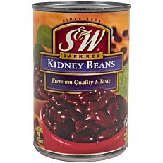 Κονσέρβα S&W φασόλια κόκκινα kidney beans (432g)