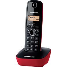 Τηλέφωνο PANASONIC KX-TG1611 ασύρματο, black & red