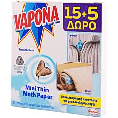 Σκοροκτόνα φύλλα VAPONA mini thin (20τεμ.)