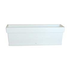 Ζαρντινιέρα LINEA λευκή 38x18x17cm