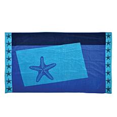 Πετσέτα θαλάσσης ζακάρ aqua 85x150cm