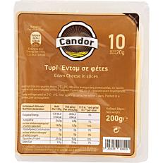 Τυρί CANDOR edam σε φέτες Ολλανδίας (200g)