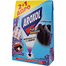 Σκοροκτόνο AROXOL full season σε φακελάκι (3τεμ.)