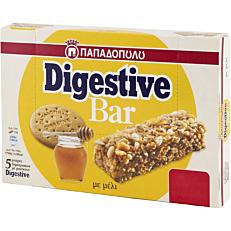 Μπάρα ΠΑΠΑΔΟΠΟΥΛΟΥ Digestive με μέλι (5x28g)