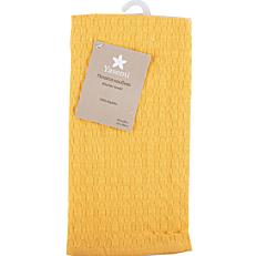 Πετσέτα κουζίνας YASEMI πικέ βαμβακερή κίτρινη 40x60cm