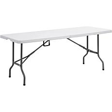 Τραπέζι πτυσσόμενο πολυαιθυλενίου βαλίτσα 152x71x74