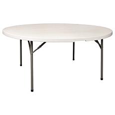 Τραπέζι ροτόντα πτυσσόμενο πολυαιθυλενίου 152x74