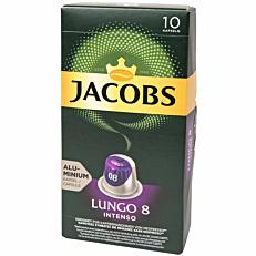 Καφές JACOBS lungo intenso σε κάψουλες (10x5,2g)