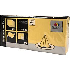 Χαρτοπετσέτες FASANA κίτρινες 33x33cm (250τεμ.)