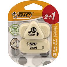 Γόμα BIC galet λευκή (2+1τεμ.)
