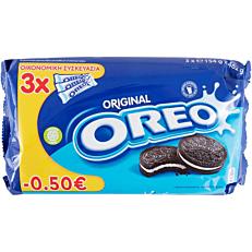 Μπισκότα OREO βανίλια (3x154g)