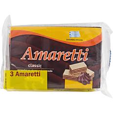 Γκοφρέτα AMARETTI classic με κρέμα κακάο (3x45g)