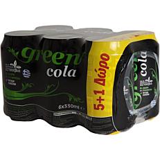 Αναψυκτικό GREEN COLA 0% (6x330ml)