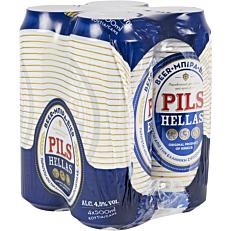 Μπύρα PILS HELLAS (4x500ml)