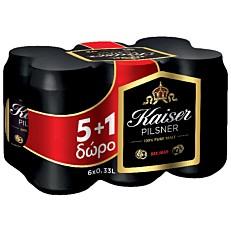 Μπύρα KAISER (5+1 δώρο) (6x330ml)