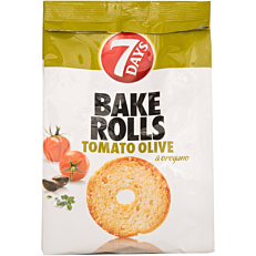 Αρτοσκεύασμα 7DAYS BAKE ROLL ντομάτα και ελιά (160g)