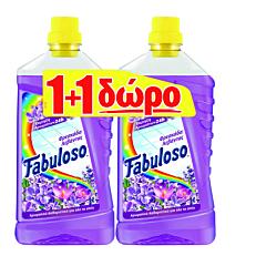 Καθαριστικό FABULOSO για το πάτωμα φρεσκάδα λουλουδιών 1+1ΔΩΡΟ, υγρό (1lt)