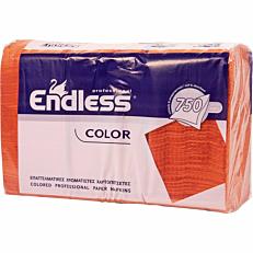 Χαρτοπετσέτες ENDLESS εστιατορίου πορτοκαλί 750φύλλα