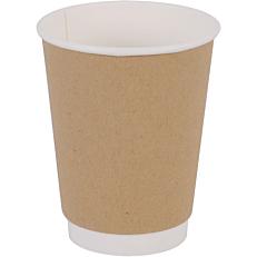 Ποτήρια χάρτινα διπλότοιχα κραφτ 12oz (25τεμ.)