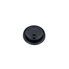 Καπάκια PS με τρύπα και πώμα, μαύρα 90mm (100τεμ.)