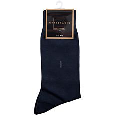 Κάλτσες CHRISTAKIS ανδρικές βαμβακερές μερσεριζέ με σχέδιο μπλε No.10,5