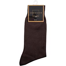 Κάλτσες CHRISTAKIS ανδρικές βαμβακερές μερσεριζέ καφέ No.11