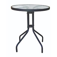 Τραπέζι MIMOSA GARDEN μεταλλικό ανθρακί Φ60cm
