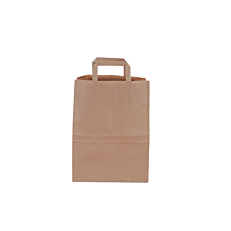 Τσάντα χάρτινη κραφτ με χερούλι 26x32x14cm (50τεμ.)