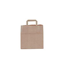 Τσάντα χάρτινη κραφτ με χερούλι 26x26x18cm (50τεμ.)