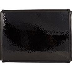 Δίσκος ακρυλικός GARIBALDI μαύρος ανάγλυφος 30x40cm