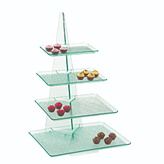Stand κομπλέ κολώνα plexiglas με 4 μαύρους δίσκους