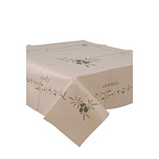Τραπεζομάντηλο κραφτ με σχέδιο ελιά 1x1,3m (150τεμ.)